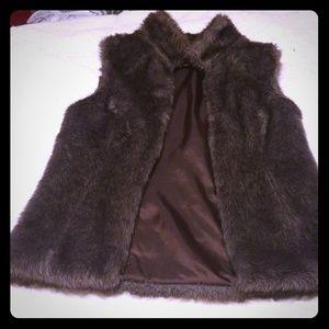 Faux Fur Brown Jacket